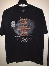 HARLEY DAVIDSON 95th Anniversary 1998 Black T-Shirt XL MADE IN USA Savannah GA