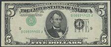 FR1962-F VAR. $5 1950-A INVERTED 3RD PRINT MAJOR ERROR AU+ RARE HV9445