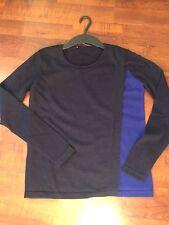 Pull cachemire Comptoir Des Cotonniers noir et bleu - T. 1 / 36 / S