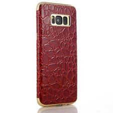 Samsung Galaxy S8 G950 SULADA TPU Case Soft Croco Muster Lack Magnet Hülle Rot