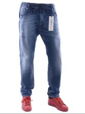 Diesel KROOLEY NE 0683R W30 Mens Denim Sweat Jogg Jeans Regular Fit Blue New