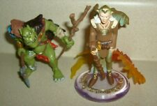 Mythical Fantasy ORC WARRIOR & SCHLEICH 2007 FAIRIES MAGE WIZARD 2 FIGURE PAPO