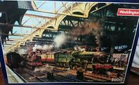 Waddingtons 1000 Piece Jigsaw SnowHill Station Trains Puzzle New Sealed 1991
