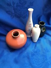 4  small vases