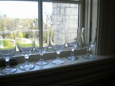 LIBBEYS EVERYDAY WINE GLASSES (6) SHORT STEM 12 OZ USED