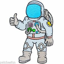 Astronaut Flying Galaxy NASA Plane Space Exploration Kids Sew Iron on Patch 0642
