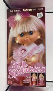1989 PJ Sparkles Doll Mattel Original Box Contents Works Excellent Condition