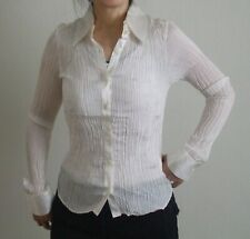 New Daniel & Mayer Off White Silk Size 1/XS Top Wrinkle Tight Blouse Shirts