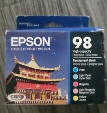 5-PACK Epson GENUINE 98 Color Ink (IN RETAIL BOX) ARTISAN 700 800 810 835 837