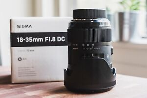 Sigma 18-35mm f1.8 Lens for Nikon F-Mount DSLR Cameras -- w/ case & original box
