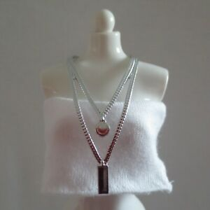 NEW! 2020 Barbie Extra Doll Silver Double Long Necklace ~ Fashionista Jewelry