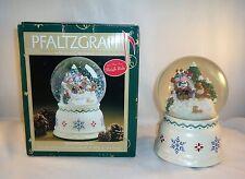 Pfaltzgraff Nordic Christmas Musical Snow Globe 247-153-00  Plays Sleigh Ride