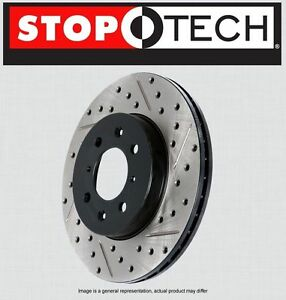 REAR [LEFT & RIGHT] STOPTECH SportStop Drilled Slotted Brake Rotors STR34043