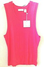 Womens Pink/Fuchsia Golf Vest Sweater Medium by Lopez Sleeveless New/Tag
