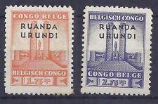 Ruanda Urundi - 122/123 - Monument Roi Albert - 1941 - MNH