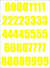 Kit 40x sticker adesivi adesivo numero numero carena racing auto moto giallo