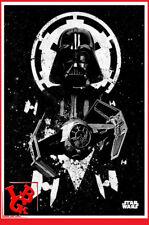 STAR WARS DARTH VADER Plaque Métal Tin Poster 10 x 14 metal Tie Fighter # NEUF #