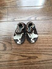 Mini Star Baby Leather Slippers / Soft Moccasin / Shoes 0-3M Brown Giraffe New