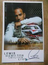 Autogrammkarte *LEWIS HAMILTON* MERCEDES AMG PETRONAS Formel 1 F1 TEAM 2019