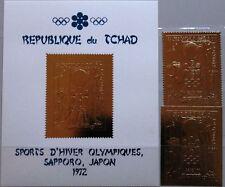 Chad chad 1971 415 a-b bloque 24 invierno Olympics 1972 sapporo oro sake fiesta