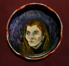 ELIZABETH JANE HOWARD, Jam Jar Lid Portrait,  Literary, Outsider Art PETER ORR