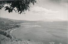 TAHITI c. 1940 - Mooréa de la pointe de Taura Photo Nordmann  - NV 2135