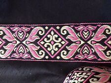 "4.5+ yds 1.75"" Pink Flames w/ Diamond Center 100% Donation 2 Cure K9 Cancer"