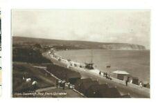 Postcard Swanage Bay Beach Huts Corfe Castle area Sweetman RP