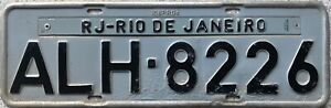 1990 Series Brazil Rio De Janeiro Number Licence License Plate ALH 8226