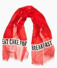 NWT Kate Spade 'Eat Cake for Breakfast' SOLD OUT! LARGE Scarf