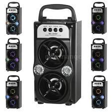 10W Portable Outdoor Wireless Bluetooth LED Stereo Speaker FM Radio/ USB/ TF/AUX