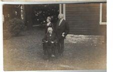 Warren Harding w/Wife & Dad- Dr George Harding Real Photo Postcard Horzntl View