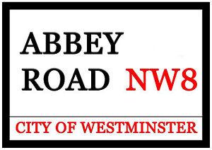 Huge Abbey Road Fridge Magnet 30cm x 21cm City Of Westminster NW8