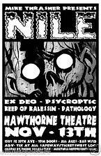 NILE / EX DEO / PSYCROPTIC 2010 PORTLAND CONCERT POSTER - Death Metal Music