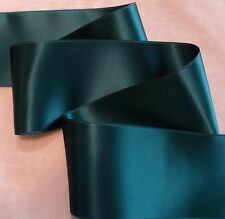 """2-3/4"""" WIDE SWISS DOUBLE FACE SATIN RIBBON-  TEAL"""