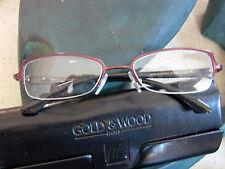 New Gold & Wood Titanium & Horn Eyeglasses