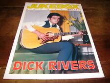 DICK RIVERS - Mini poster couleurs !!!!!!! 2 !!!!JUKEBOX !!!!!!!!!!!!!!