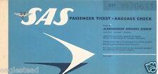 Airline Ticket - SAS - 1 Flight - 1964 (T234)