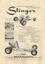 Vintage & Very Rare 1960 Bug / McCulloch Stinger Go-Kart Ad
