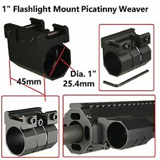 "1"" Universal Picatinny Weaver Rail Mount for Tactical Flashlight and Laser Sight"