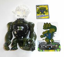"2010 ben 10 ULTIMATE ALIEN ~ Ultimate humungousaur + omintrix & Card ~ 4"" (b14)"