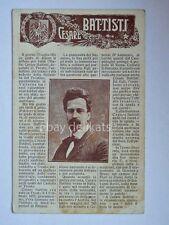 CESARE BATTISTI vecchia cartolina irredentismo Trento