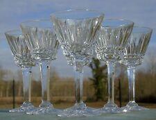 Val Saint Lambert - Service de 6 verres à vin en cristal taillé, modèle Esneux?