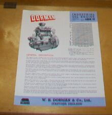 DORMAN INDUSTRIAL OIL ENGINE TYPE 4K II 4503cc SPECIFICATION  LEAFLET