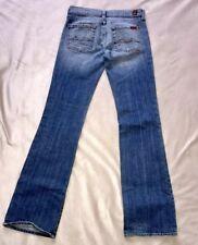 7 for all Mankind  7FAM Women's Dark Distressed Flare Leg Jeans, SZ 25