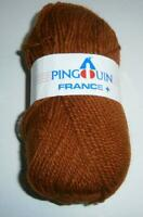 "PINGOUIN FRANCE + LOT OF 13 X 50 GR BALLS  ""RUST"" -DK WEIGHT  50% WOOL-"