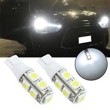 LED Front Sidemarker Light Bulbs Lamps 168 192 2825 2821 T10 6000K White 9-SMD