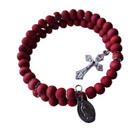 Our Lady of Guadalupe Rose Scented Wrap Style Rosary Bracelet
