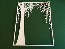 8 x WEEPING WILLOW TREE background die cuts**FREE UK POSTAGE***