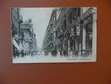 Egyptian old post-card of Rue Cherif Pacha Alexandria Egypt.